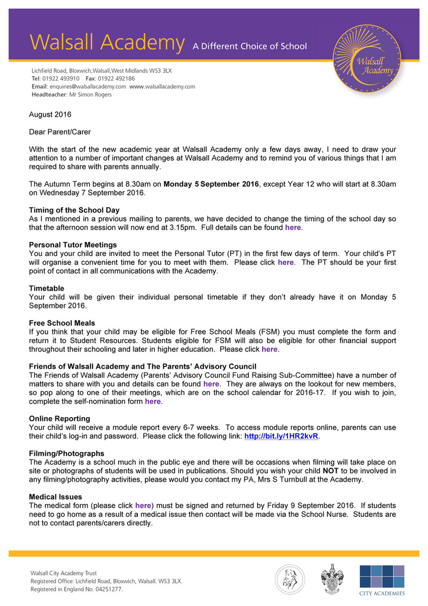 Walsall Academy - Summer Mail Drop 2016 - Page 1 - Created with