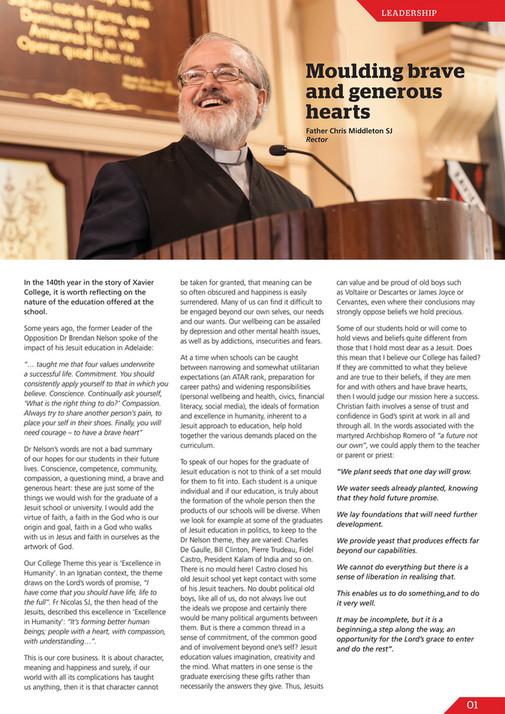 Xavier news vol 36 no 1 april 2018 xavier college solutioingenieria Gallery