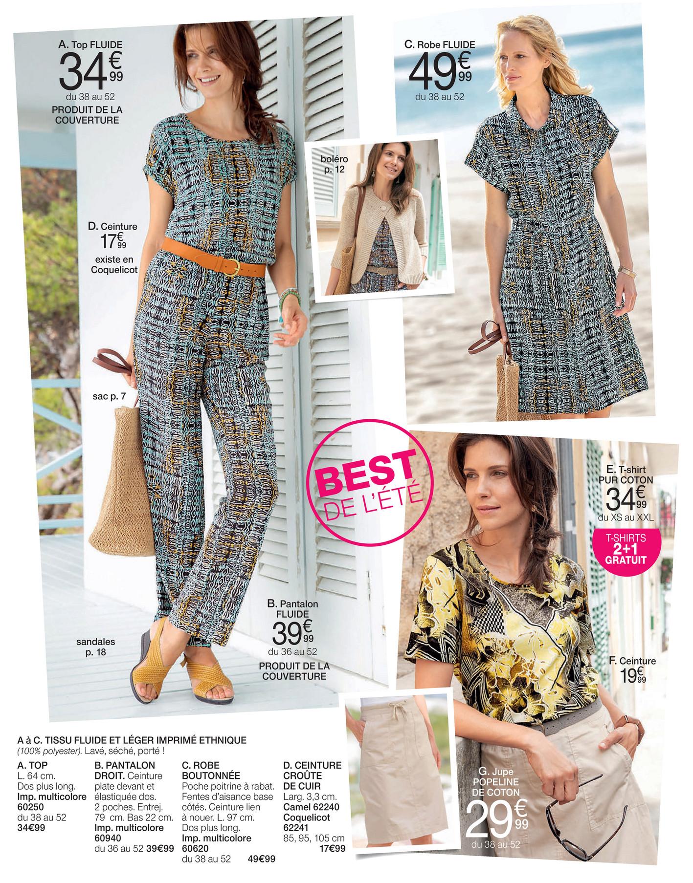 belle qualité brillance des couleurs bons plans sur la mode Damart - Best été 2019 - Page 2-3