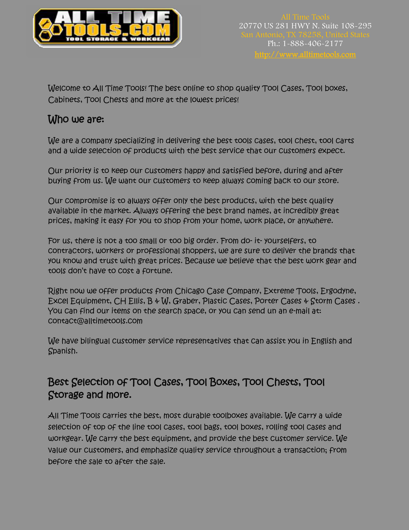 alltimetools - Metal Tool Boxes - Page 2-3 - Created with