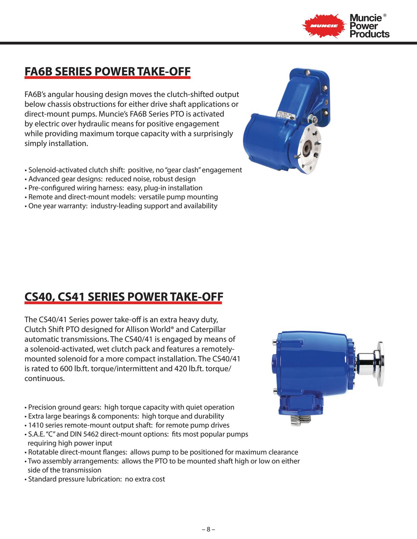R&M Equipment - Muncie Auxiliary Power Brochure v1 - Page 10 ... on muncie hydraulic clutch kits, muncie parts, muncie transmission, muncie hydraulic electric shift wiring,