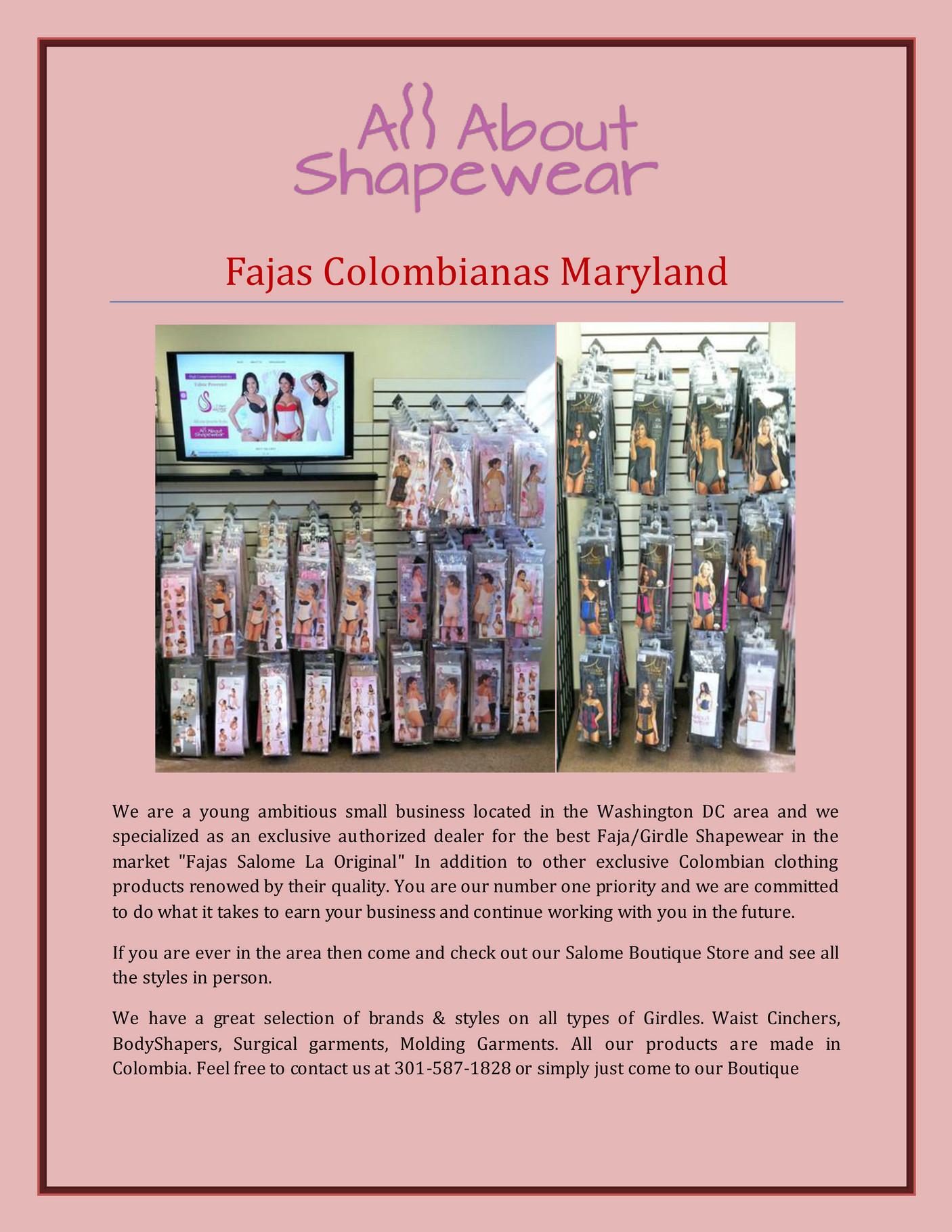 allaboutshapewear - Fajas Colombianas Maryland - Page 1