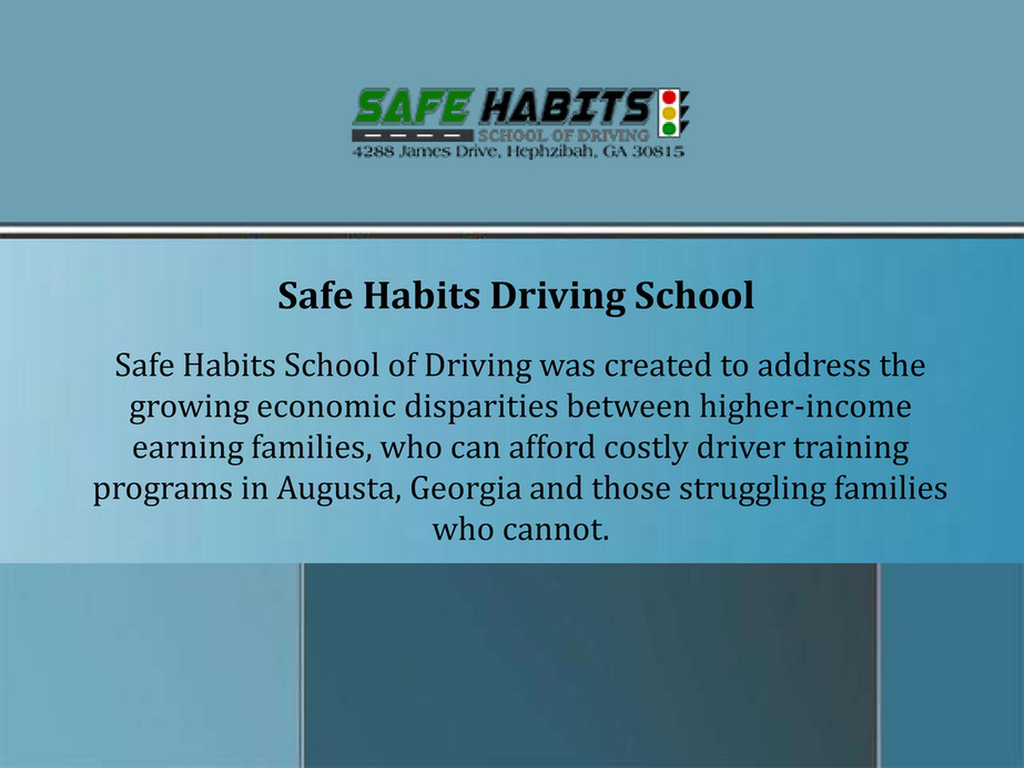 Safehabitsdriving Safe Habits Driving School Page 1 Created