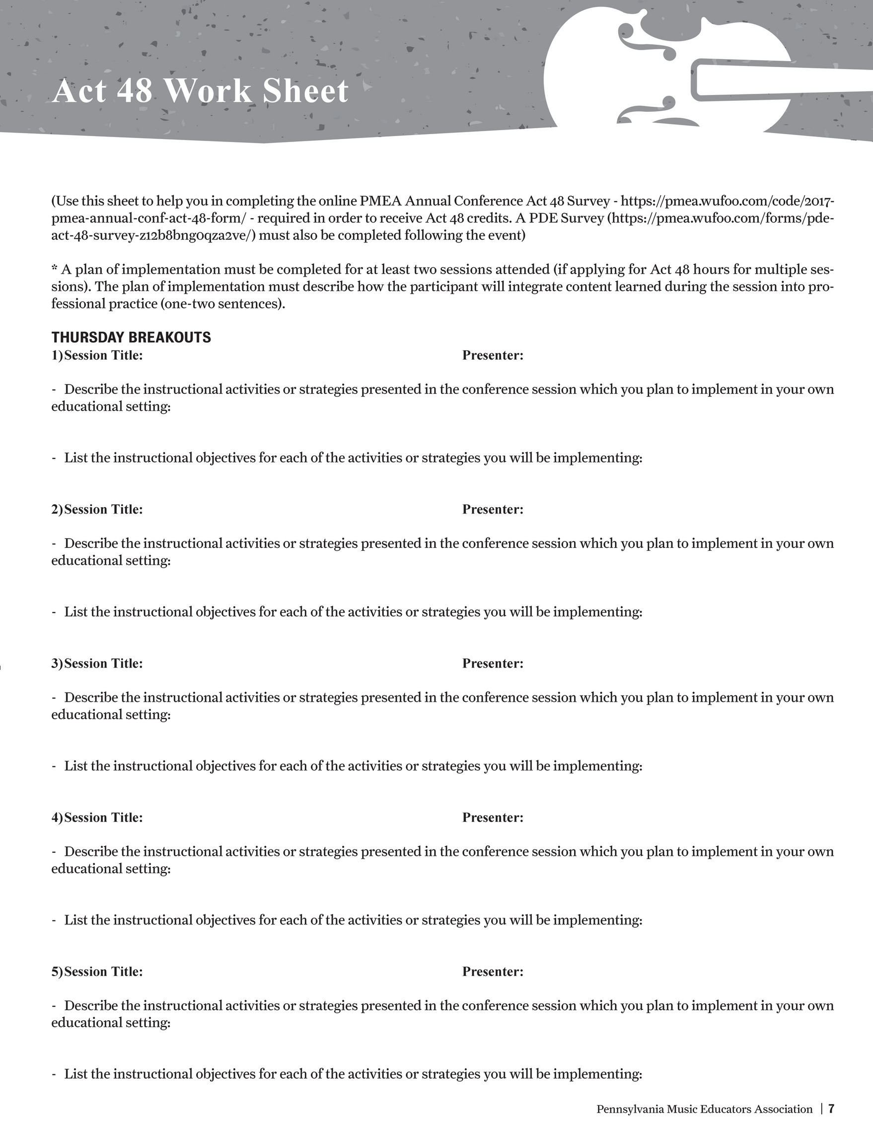 PMEA - 2017 PMEA In-service Conference Program - Page 8-9 - Created with  Publitas.com