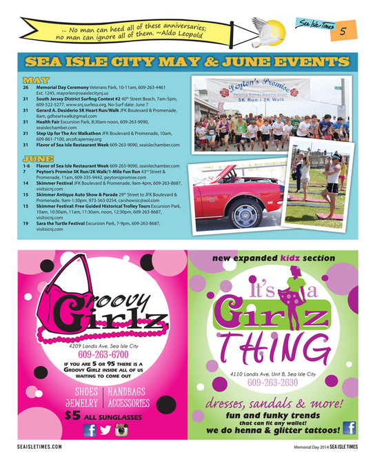 Seven Mile Publishing Sea Isle Times Memorial Day Page - Green isle park car show