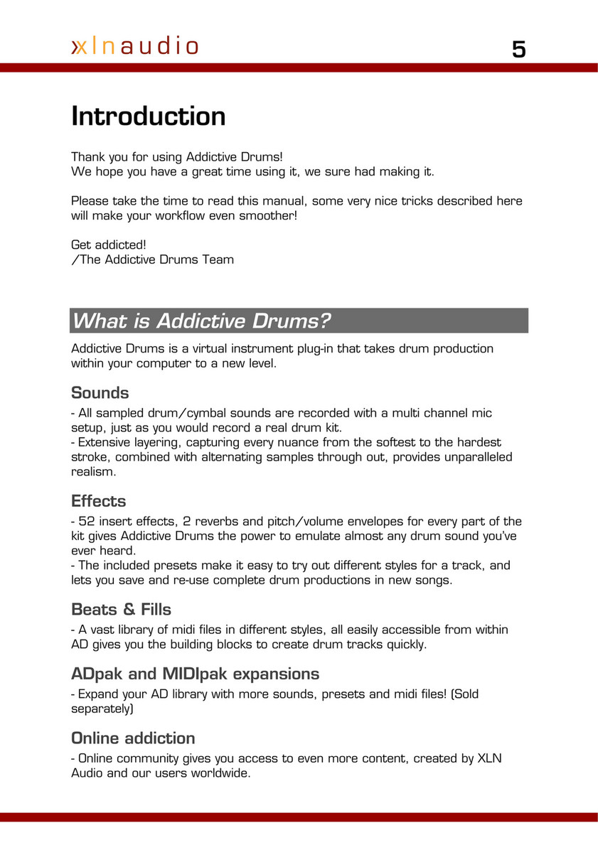 Church - Addictive Drums Manual - Page 7 - Created with