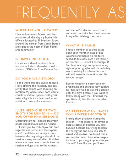 Kate L Photography - KLP Session Guide for Headshots - Page 32-33