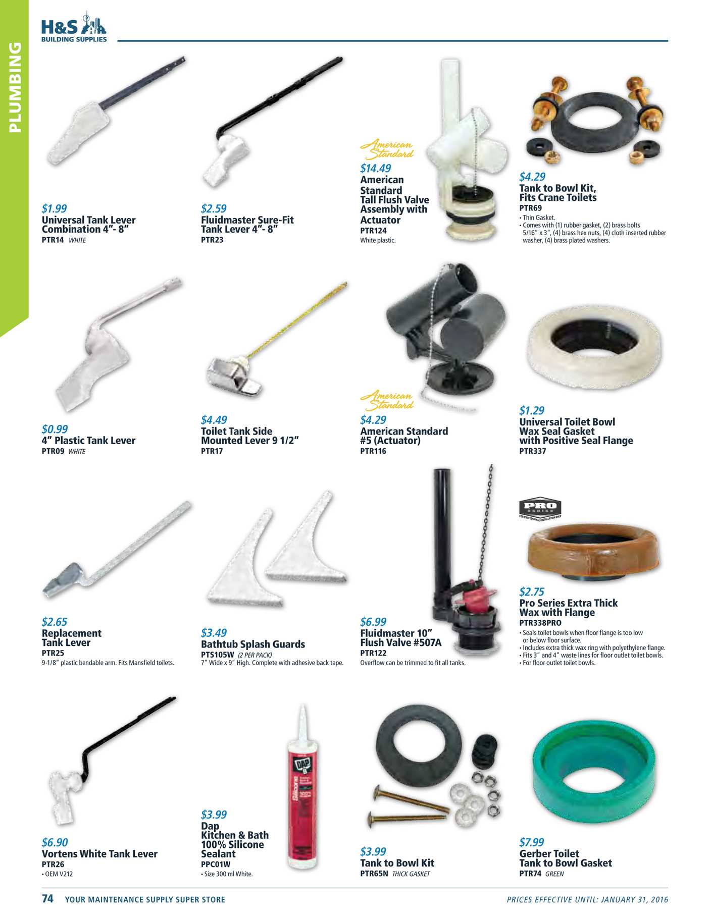 American Standard Flush Valve Actuator American Standard Flush - Toilet bowl tank parts