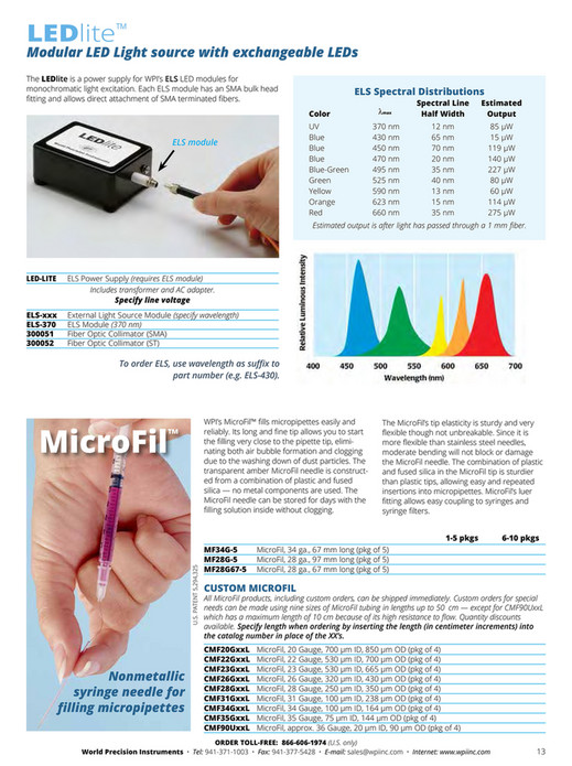 World Precision Instruments - 2016-Microinjection Catalog