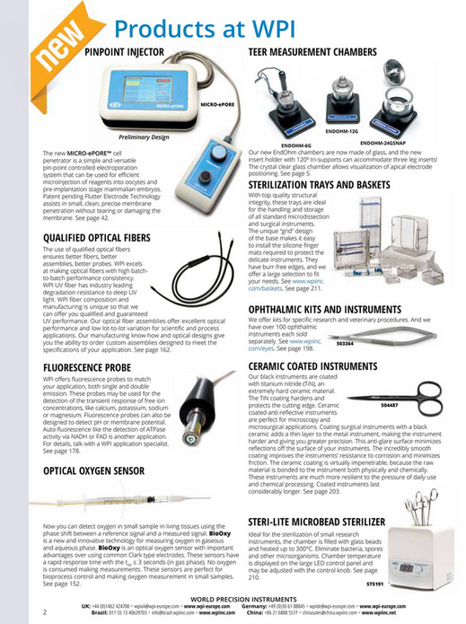 World Precision Instruments - 2019 Main Catalog - Page 1