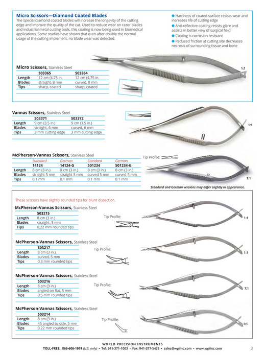 World Precision Instruments - 2016-Surgical Instrument