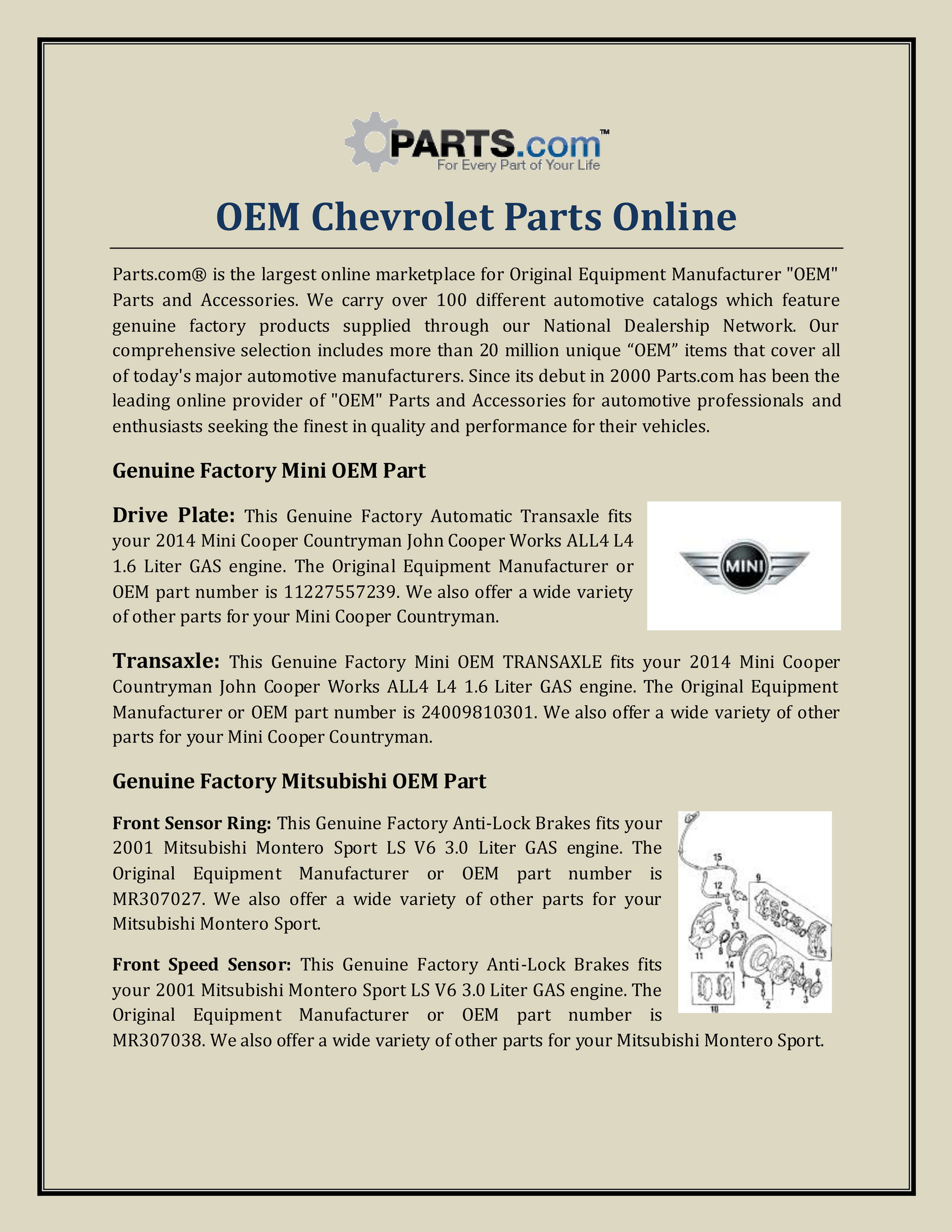 Partspusa Oem Chevrolet Parts Online Page 1 Created With Publitas Com