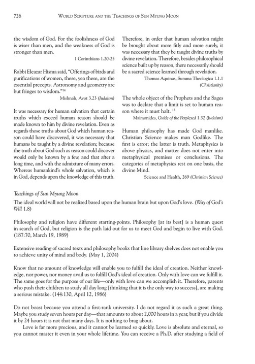 My publications - World Scripture and the teachings of Sun Myung