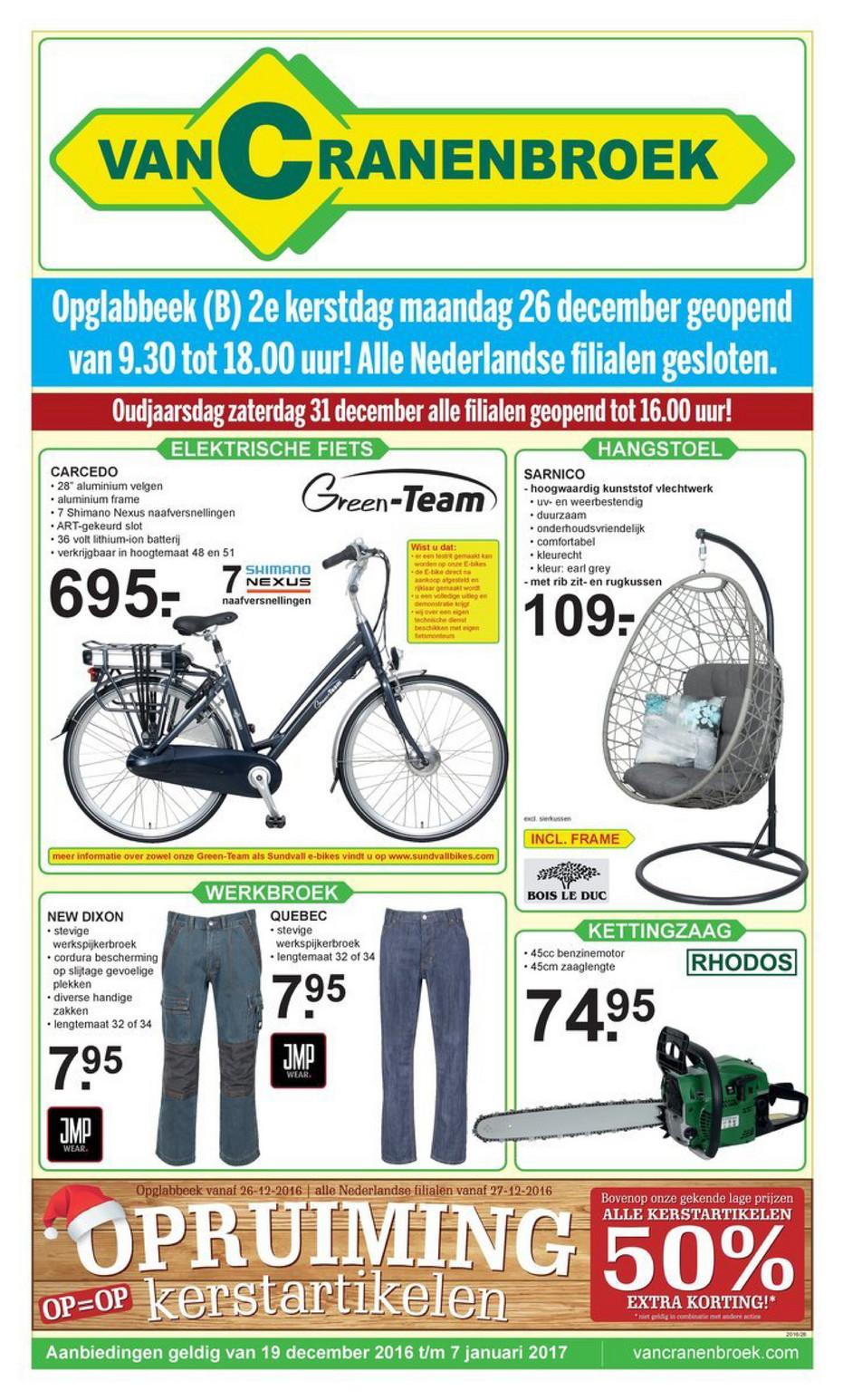 Folderaanbiedingen Van Cranenbroek Folder 19 December Tm 7 Januari 2016 Pagina 1