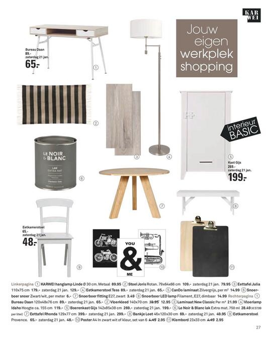 Karwei Eetkamerstoel Sem.Folderaanbiedingen Karwei Idee Magazine Januari 2017 Pagina 26 27