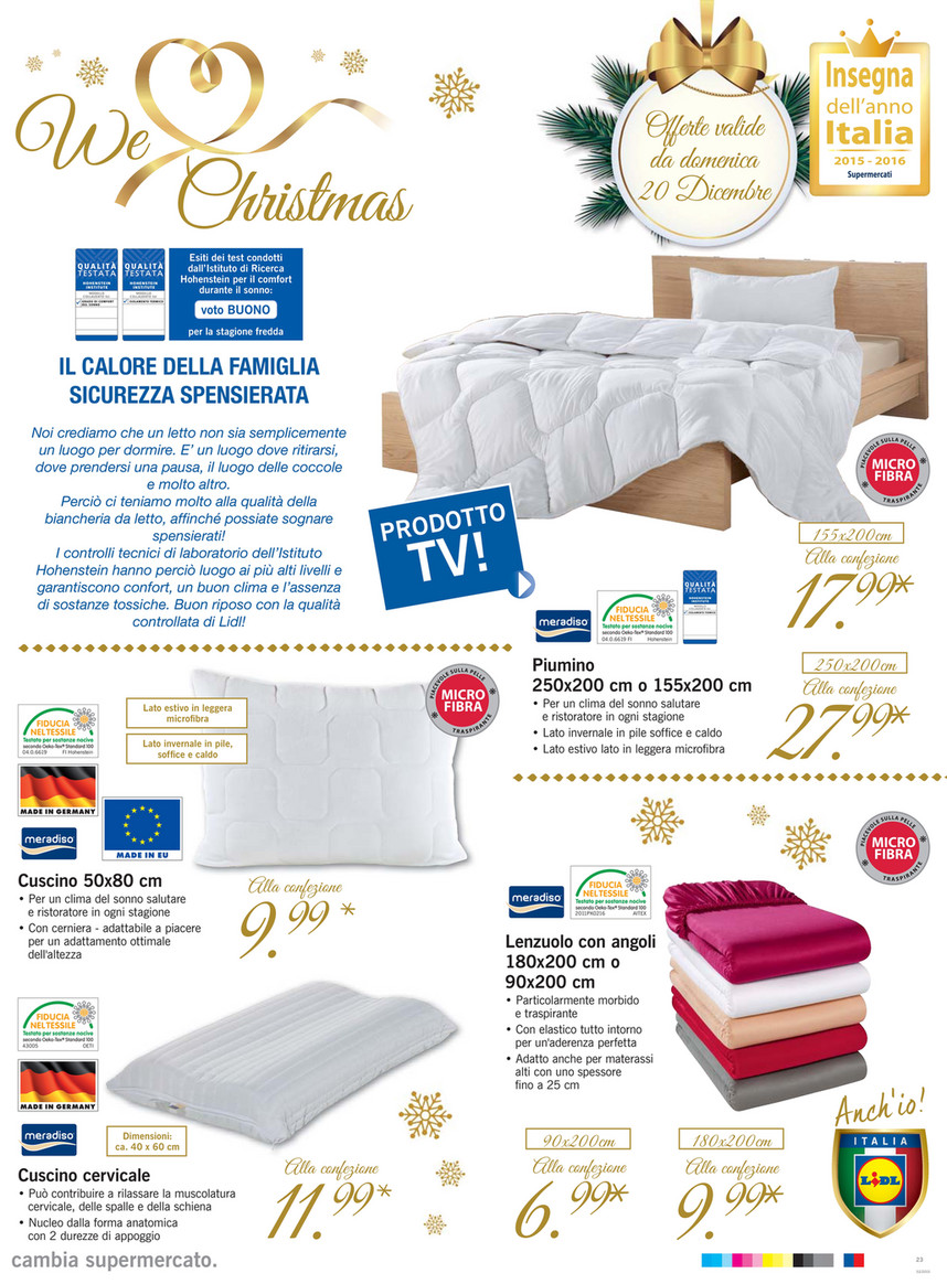 Cuscini Lidl.Sp Volantino Lidl Il Menu Di Natale Page 23 Created With