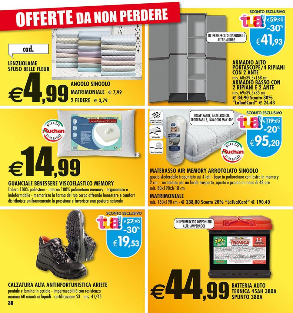 Armadio Due Ante Auchan.Sp Volantino Auchan Tutto A 1 Euro Page 20 21 Created With Publitas Com