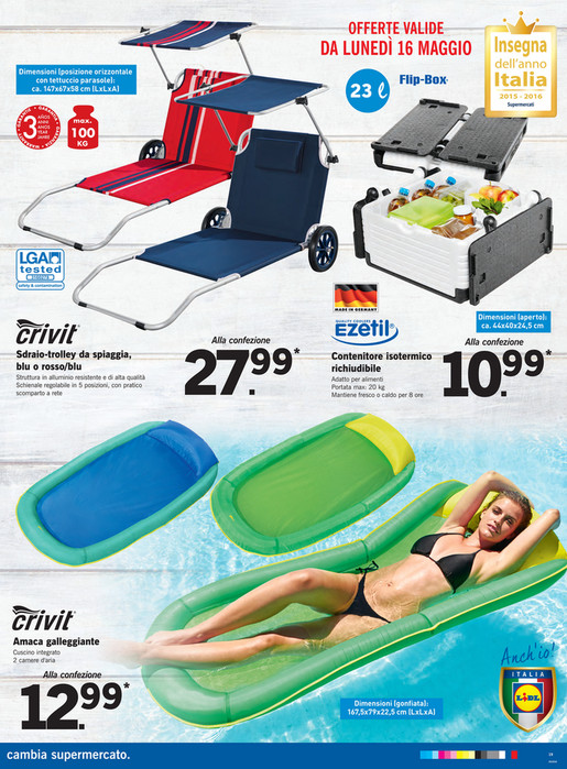 Sdraio Trolley Da Spiaggia Lidl.Sp Volantino Lidl In Campo Insieme Page 26 27 Created With