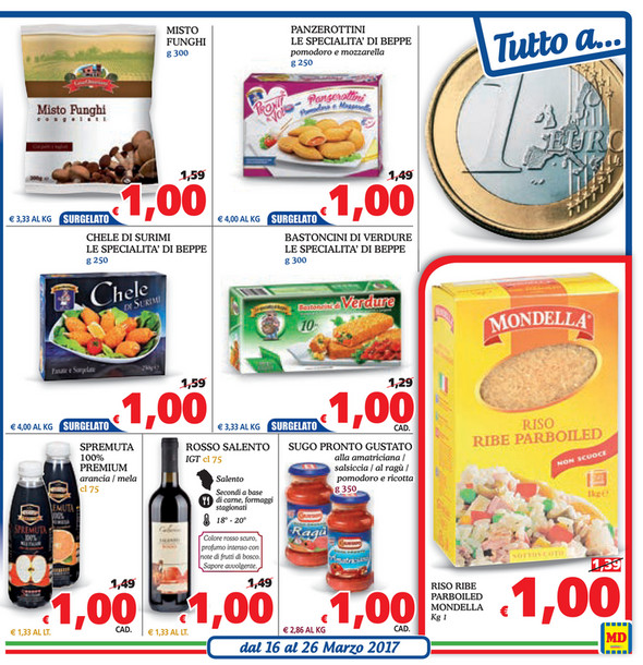 SP - Volantino MD Discount- Tutto a... dal 16 al 26 Marzo 2017 ...
