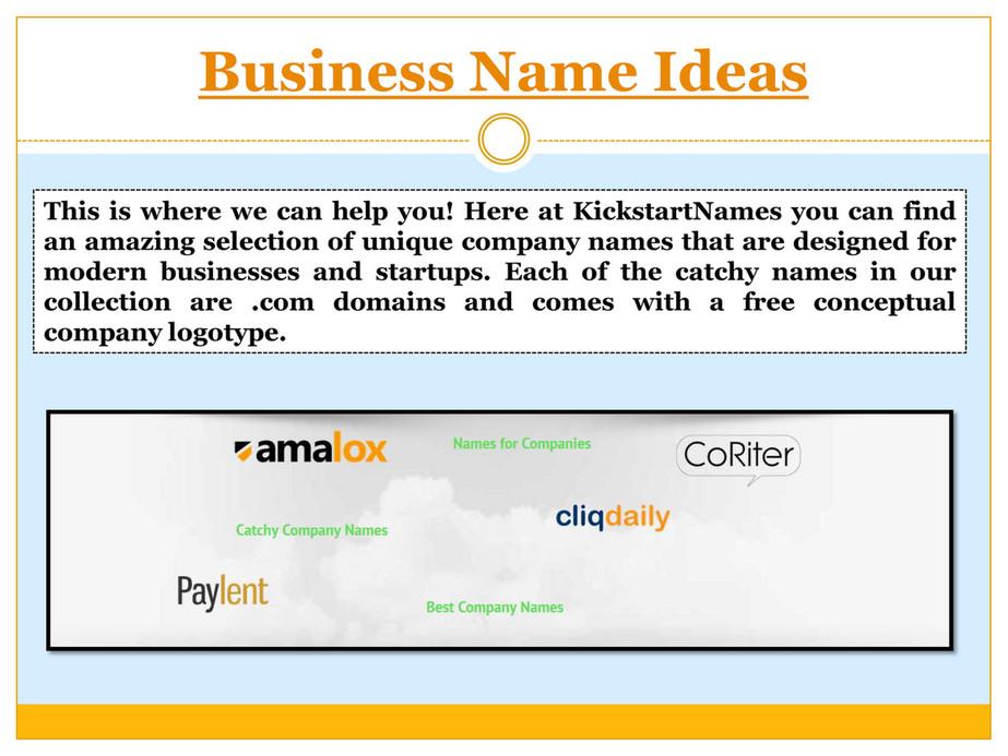 Menu Names Ideas