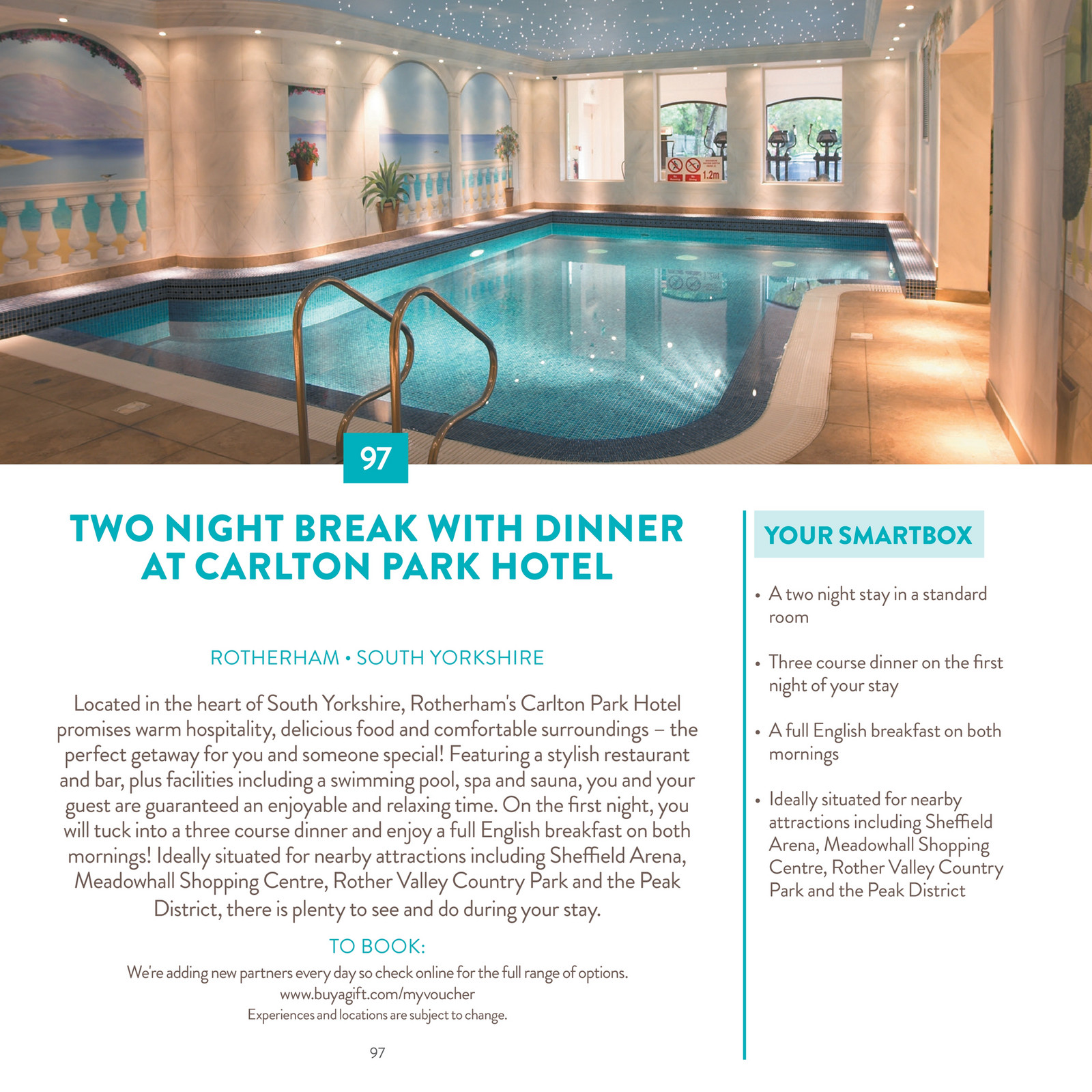 Three Course Dinner On The First Night Of Your Stay O A Full English Breakfast Both Mornings Ideally Situated For Nearby