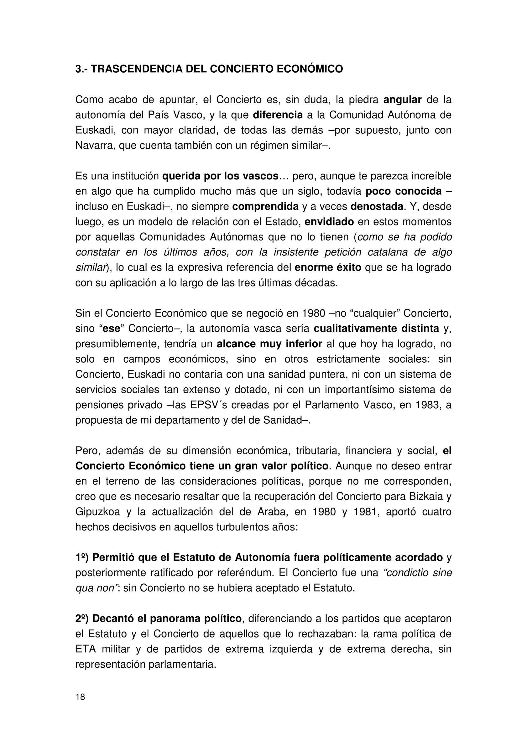 El Concierto Economico Vasco 05 Titulo I Naturaleza Y Trascendencia Del Concierto Economico De 1981 Pagina 1 Created With Publitas Com