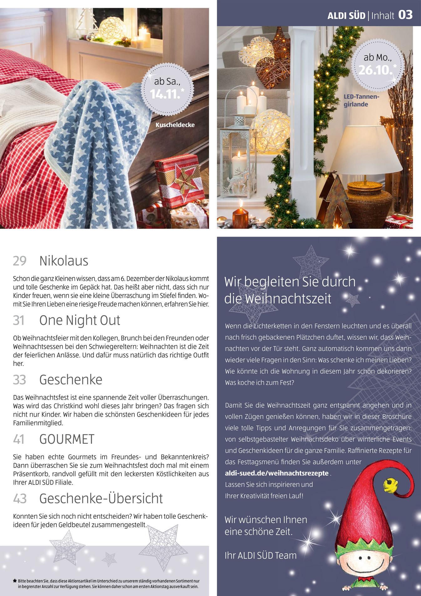 Aldi Weihnachtsdeko.Example Aldi Sud Weihnachtsmagazin Seite 2 3