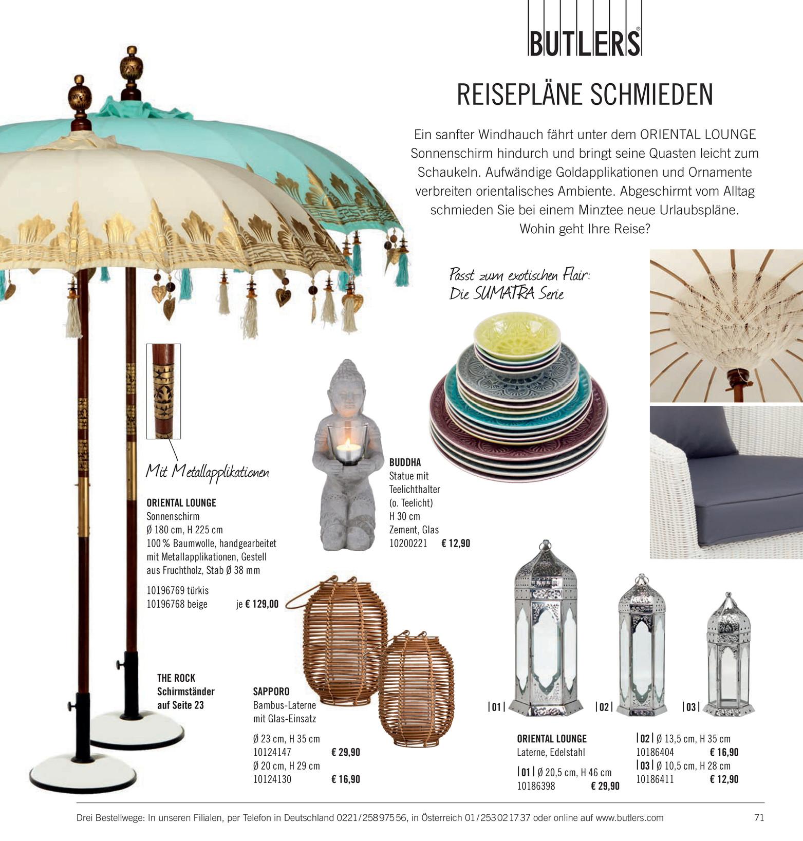 Butlers Katalog De Sonnenst Cke Katalog 2014 Seite 70 71