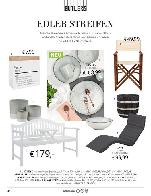 Butlers Katalog butlers-katalog de - katalog sonnenstuecke 2018 - henley teller Ø 26