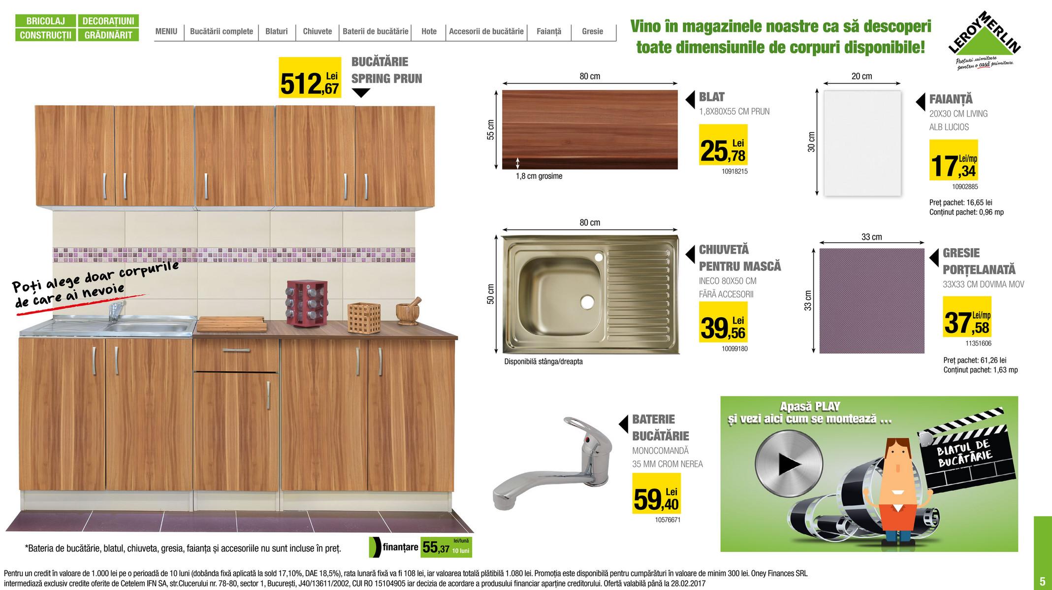 leroy merlin romania catalog leroy merlin bucatarii 2017. Black Bedroom Furniture Sets. Home Design Ideas