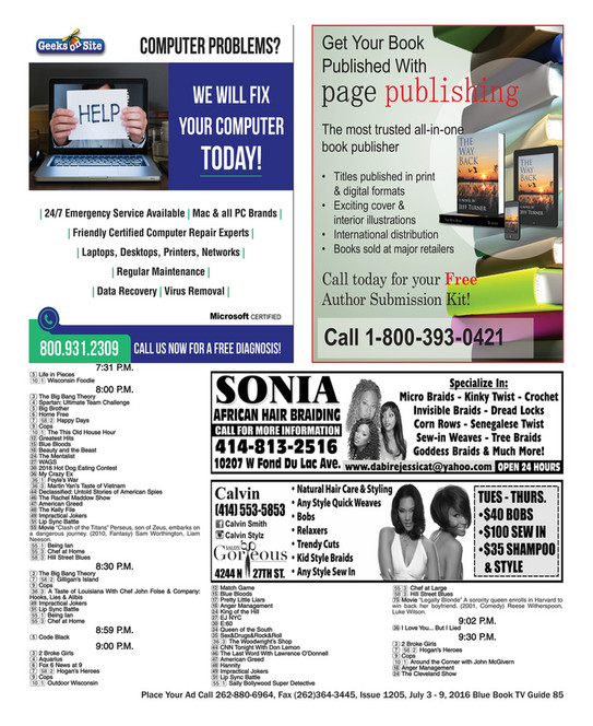 Blue Book Milwaukee - ISSUE 1205, JULY 3-9, 2016 BLUE BOOK