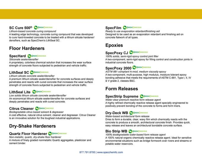 Specchem Concrete Accessories 2 Page 2 3 Created With Publitas Com