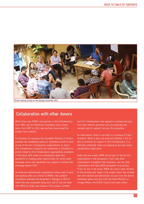 Stichting DOEN - Arts Collaboratory - Overview 2013-2015 - Page 26-27