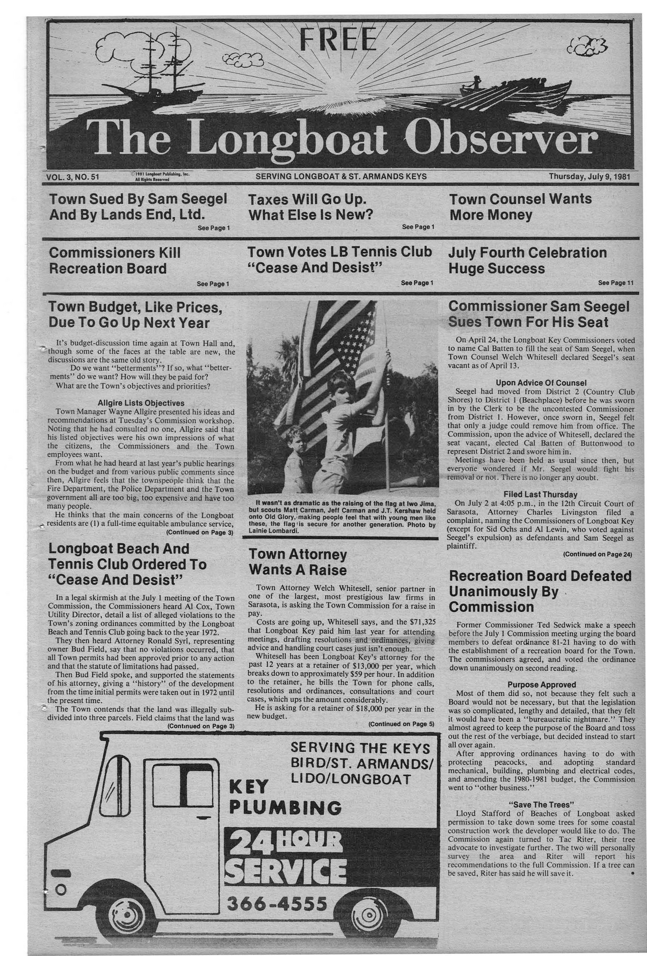 Archives - July 9 1981 - Page 2-3