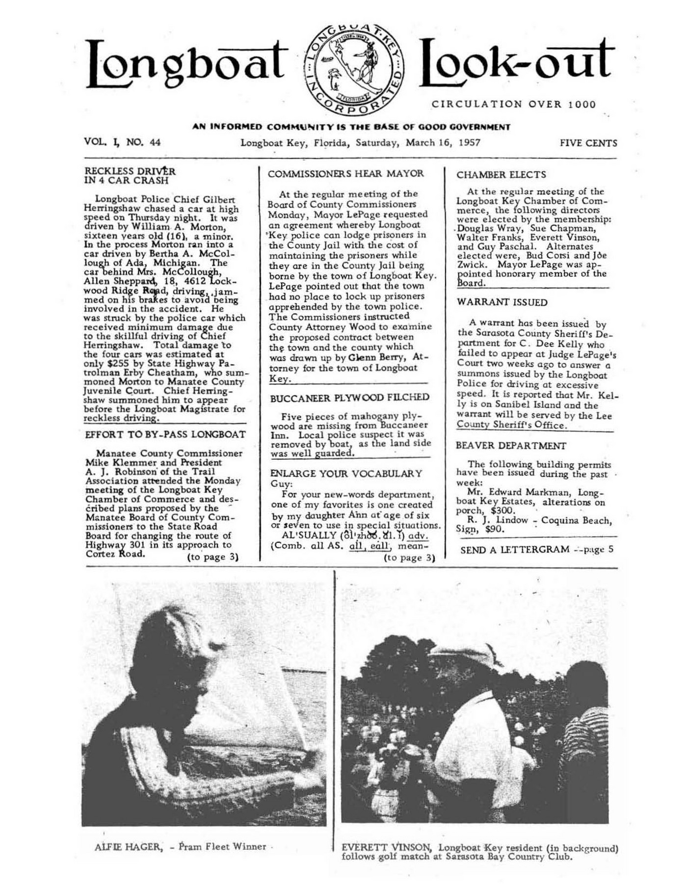 Archives - March 16 1957 - Page 1