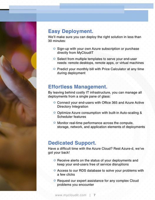 TriDigital Marketing - MyCloud IT Brochure - Page 8-9