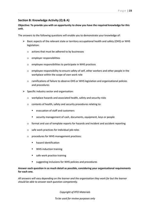 RTO Materials - SITXWHS001 Assessor Workbook V1 0 - Page 24-25