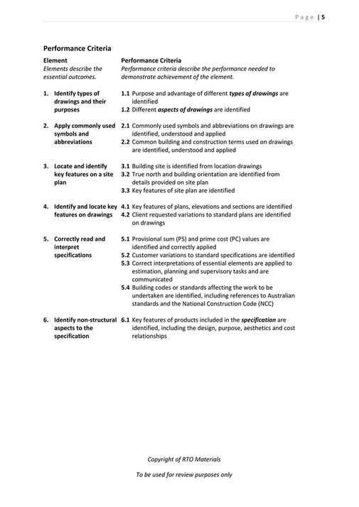 RTO Materials CPCCBC4012B Learner Guide V10 Page 67 – Site Plan Abbreviations