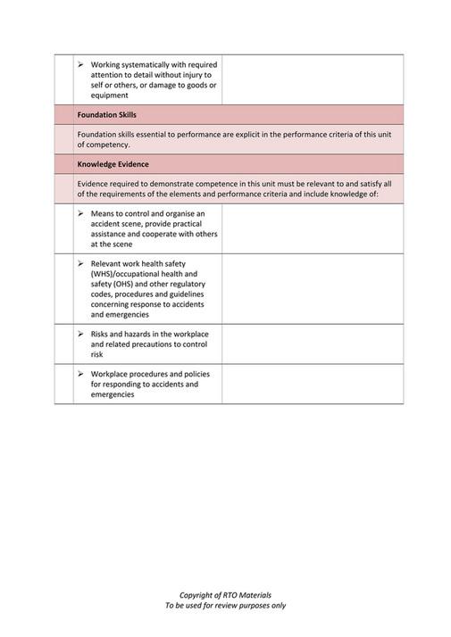 RTO Materials - TLIF4007 Learner Evidence V1 0 - Page 2-3