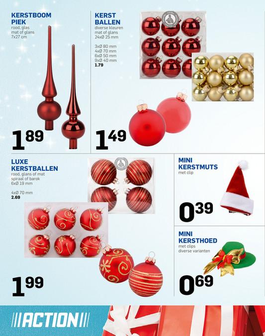 Simple kerstboom piek rood glas mat of glans x cm kerst for Mini kerstboom action