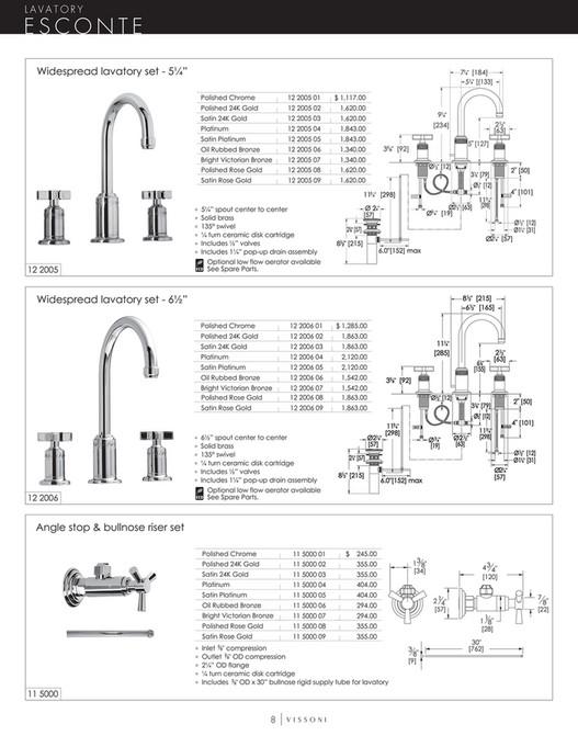 Vissoni - Price Book - Page 8-9 - Created with Publitas com