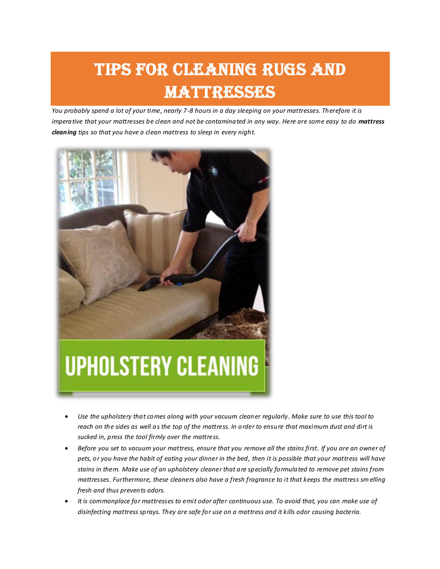 My Publications Mattress Cleaning Services Page 1 Created With Publitas Com