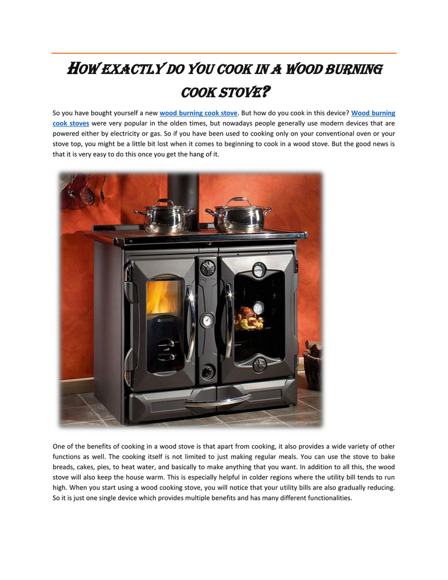 My Publications Wood Burning Cook Stove Canada Page 1