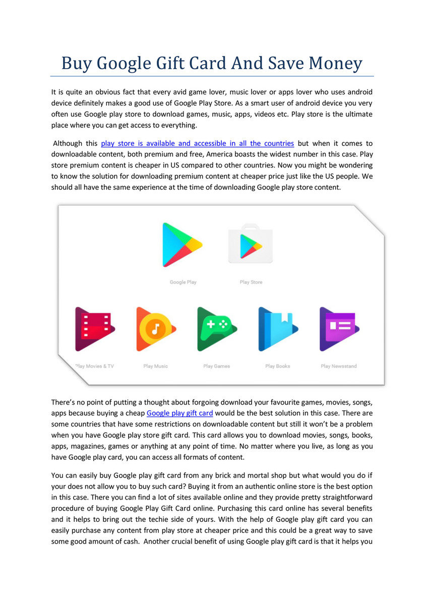My publications - Buy google play gift card - Page 1 - Created with
