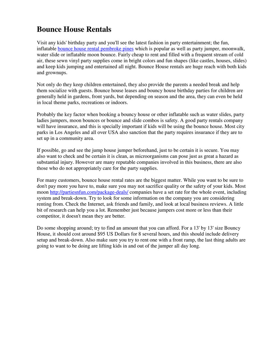 My publications - Bounce house rental pembroke pines - Page 1