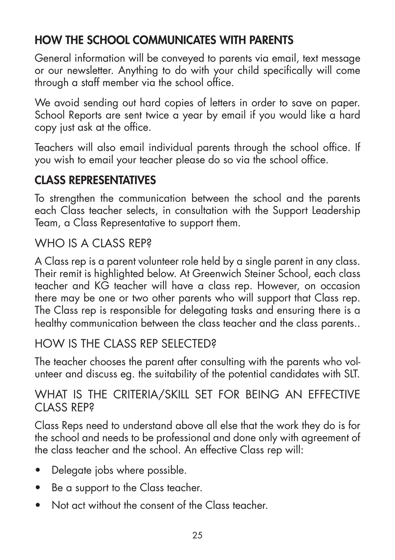greenwich steiner school gss parents handbook 2016 17 page 24 the class teacher and the school an effective class rep will delegate jobs where possible be a support to the class teacher