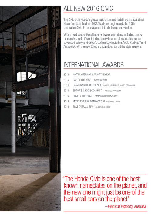 2du - 2016 Honda Civic Brochure - NZ - Page 1 - Created with