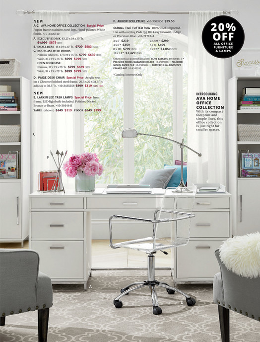 AVA HOME OFFICE COLLECTION Special Price Poplar Frame Stainless Steel Legs