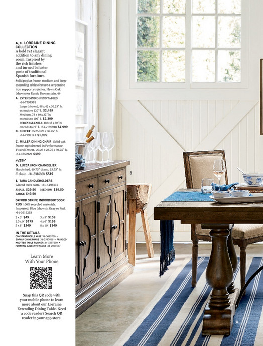60a848a60a A, B. LORRAINE DINING COLLECTION A bold yet elegant addition to any dining  room ...