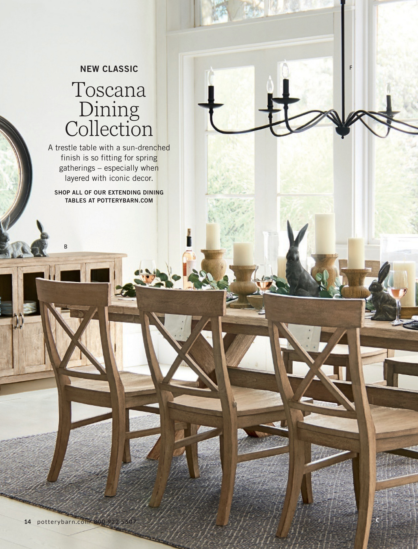 pottery barn spring d3 page 14 15 toscana dining table
